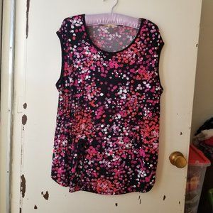 Black with Dots Short Sleeve Round Neck Top